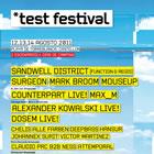 Test Festival: Horarios
